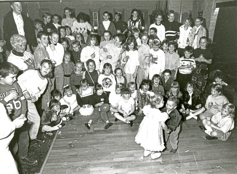 1989: Two-year-olds Jamie Lennox and Alana McDonald danced the night away at a disco organised by the mums of Corthan Place, Kincorth