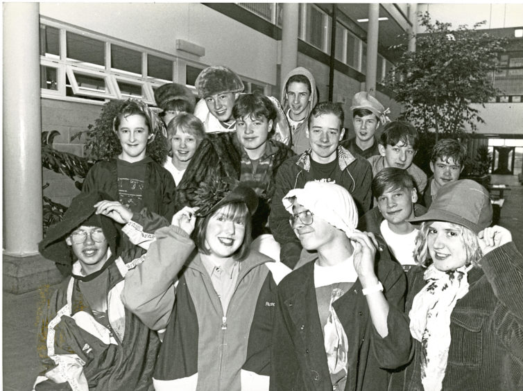 1990: Pupils at Portlethen Academy dressed up in their favourite gear for Children in Need