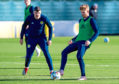 Scotland's Stuart Armstrong, right, and Callum Paterson.