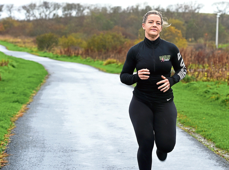 Nicola Buchan training for the run