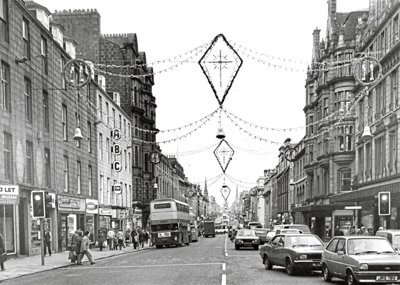1990: The Christmas lights which run the full length of Union Street and much of George Street are always appreciated