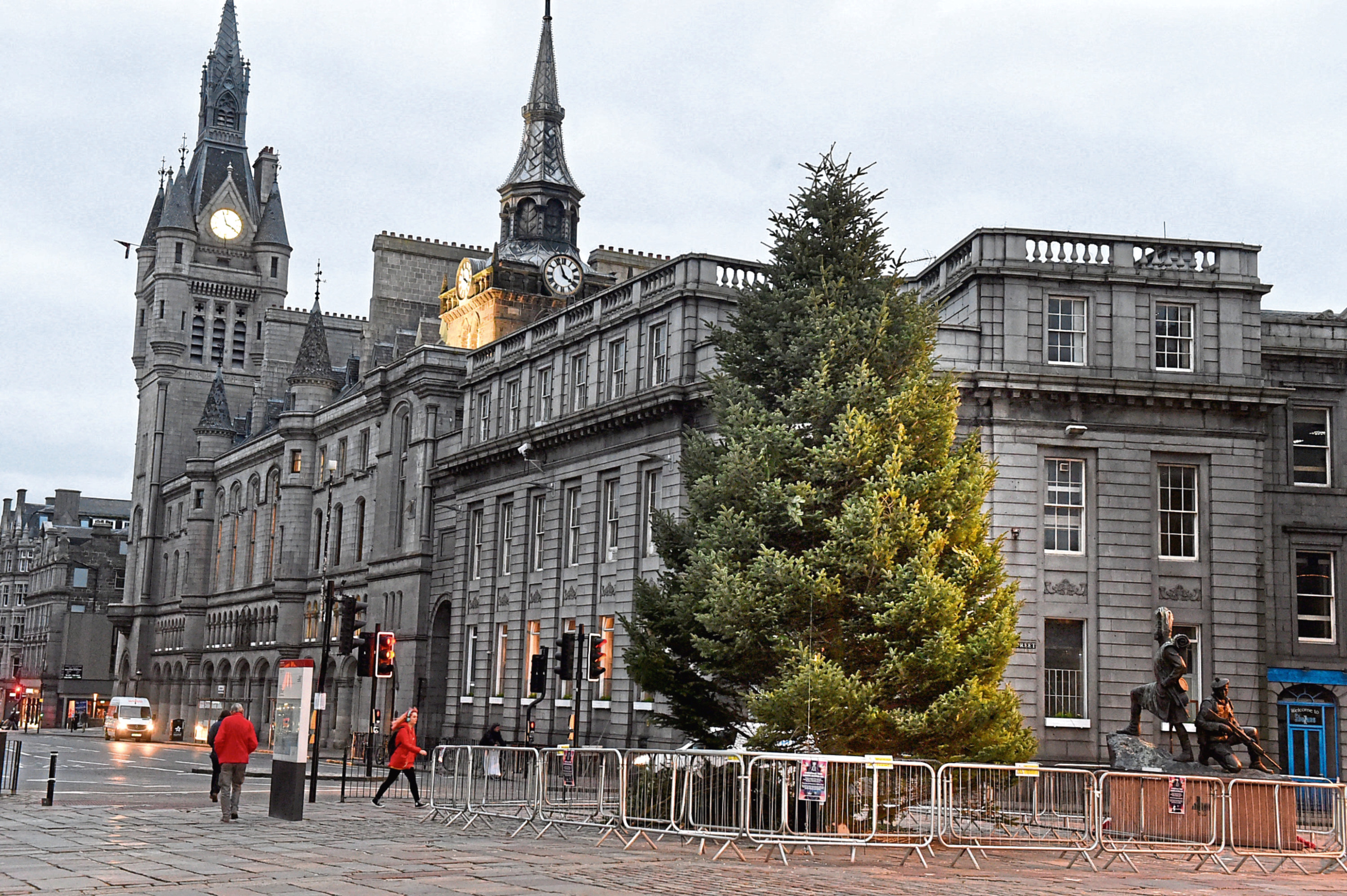 Aberdeen's Christmas tree at the Castlegate