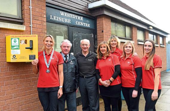 The defibrillator has been installed at Westdyke Community Centre