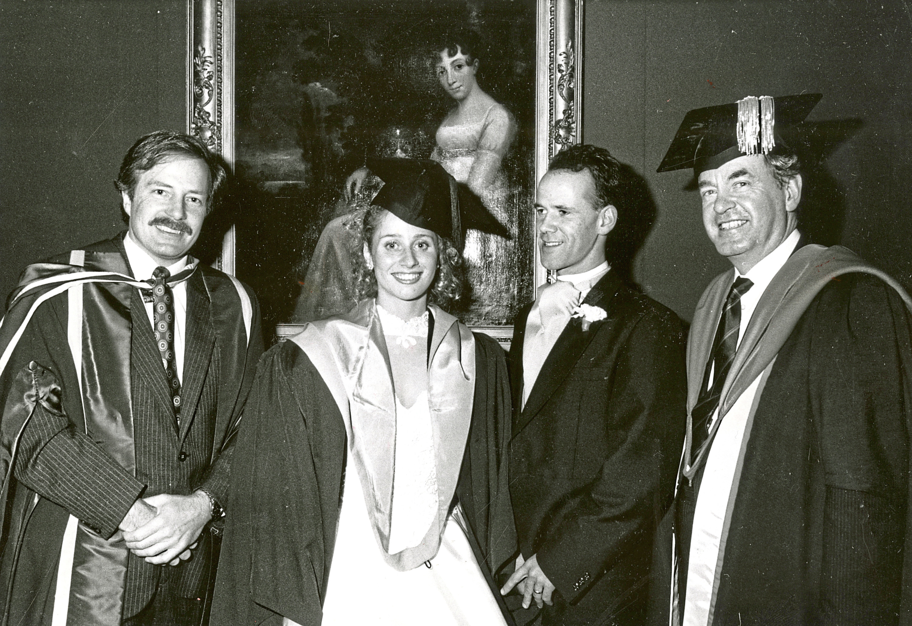 1990: Dawn Masson married honours student Mark Hearns at King's College and was surprised after the ceremony with a special graduation