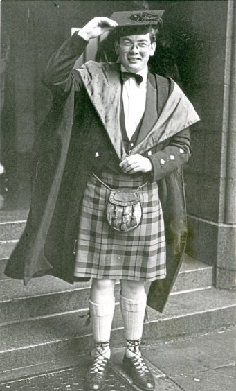 1976: Sutherland man Andrew Morrison graduated at the Mitchell Hall