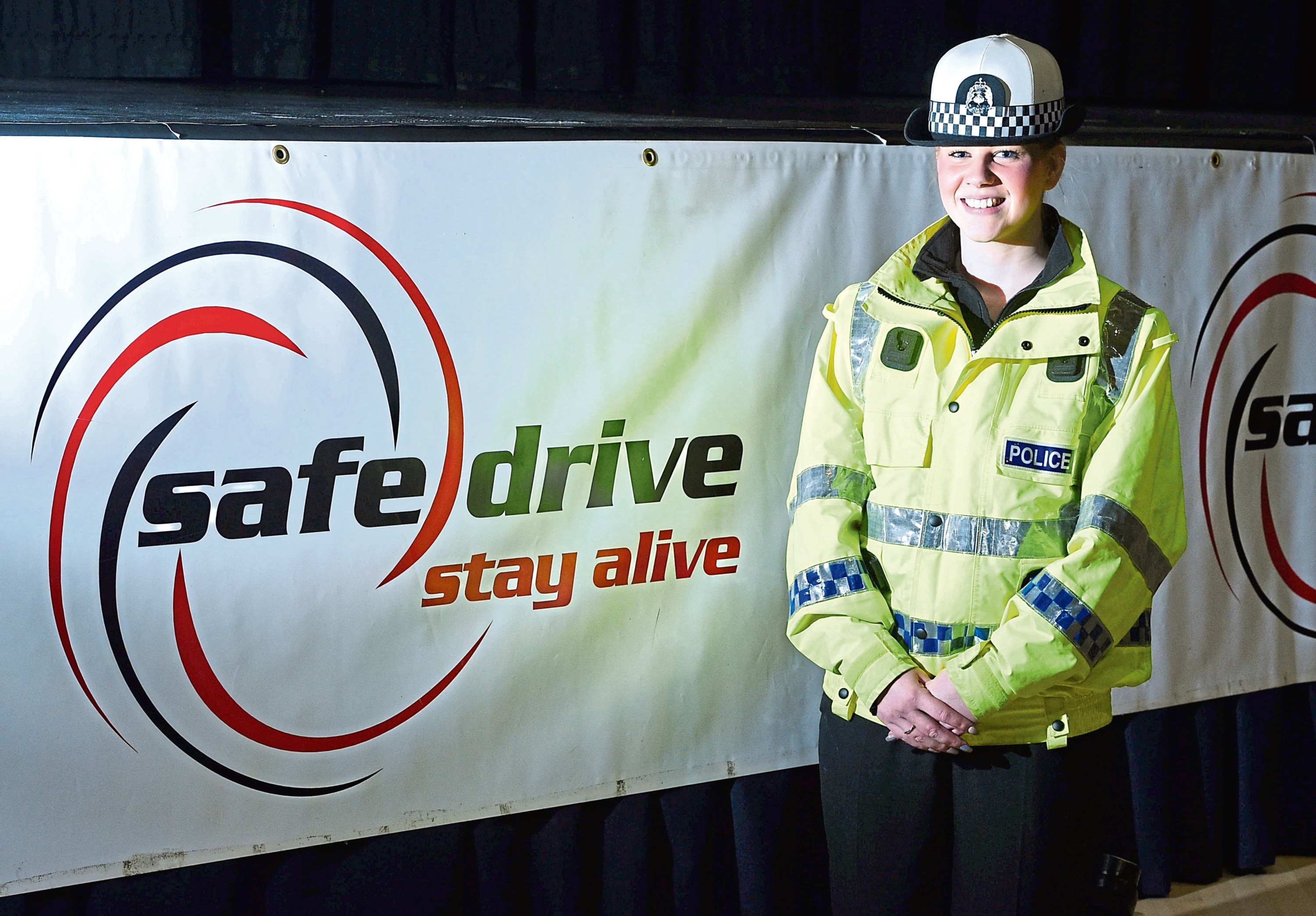 PC Lauren Tate at the Safe Drive Stay Alive event
