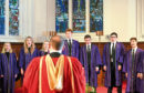 The University of Aberdeen Chapel Choir led by royal composer Paul Mealor