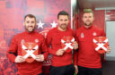 Niall McGinn, Tomas Cerny and Michael Devlin have got their masks