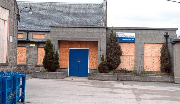 The former Market Place School, Inverurie.