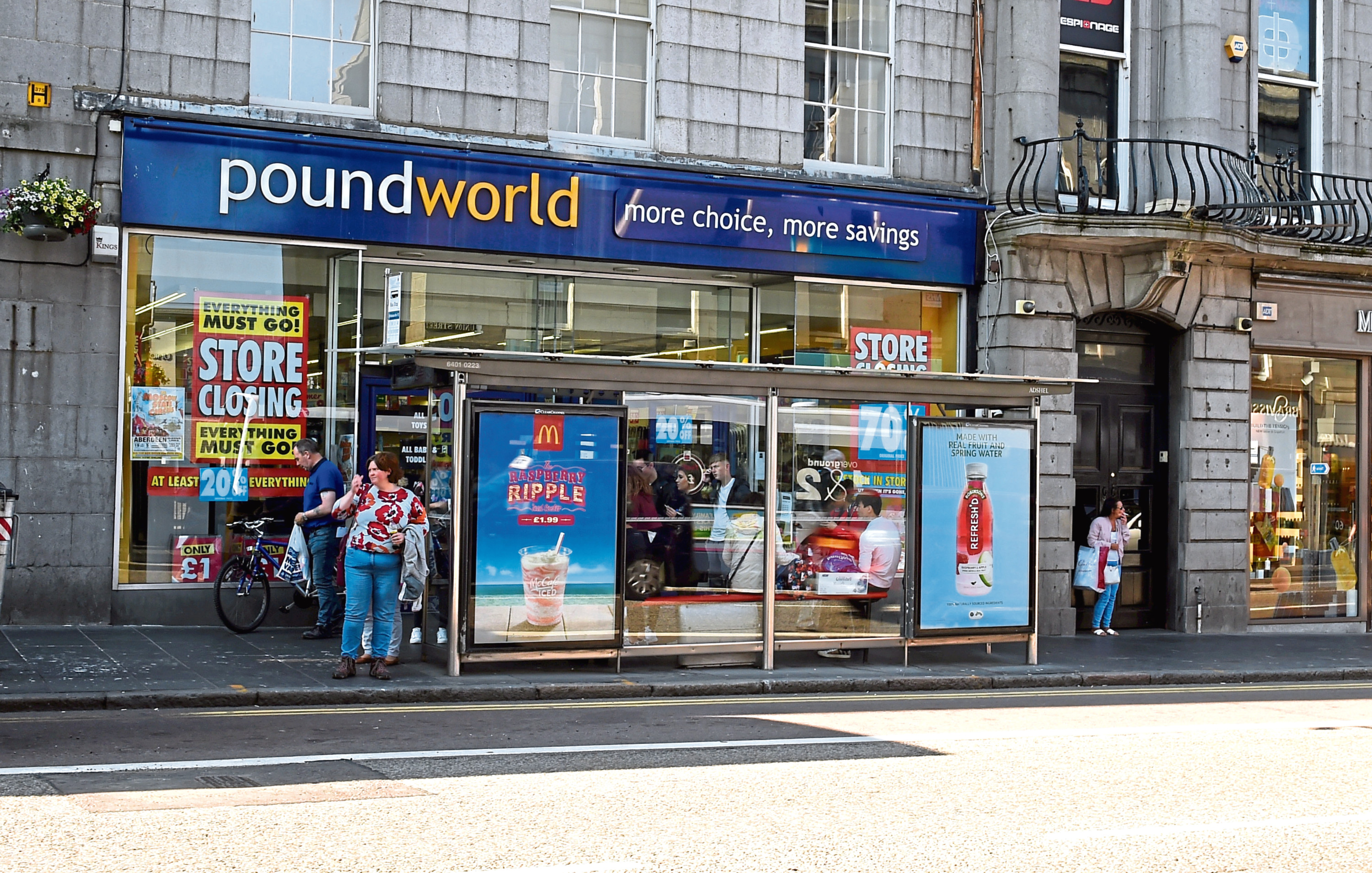 Locator of Poundworld, Union Street, Aberdeen.  Picture by Jim Irvine  13-7-18