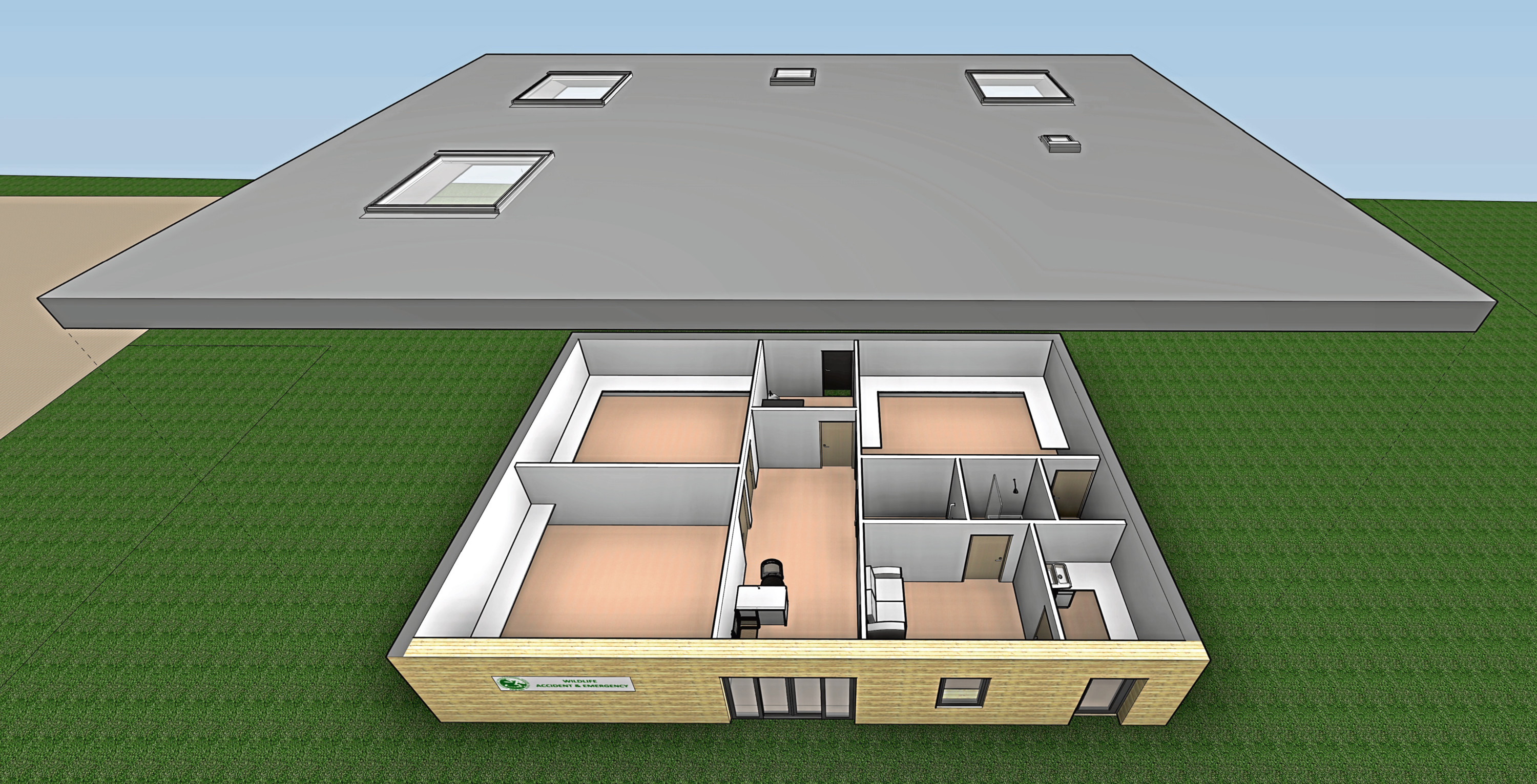 An artist's impression of the New Arc's emergency clinic