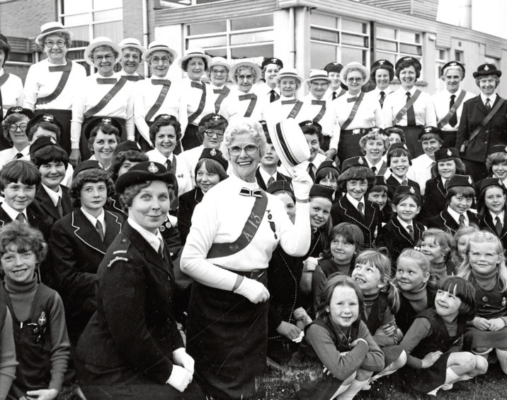 1979: A reunion held by the 13th Aberdeen (St Machar's Cathedral) Girls' Brigade Company in Scotstown Primary School to mark their 70th anniversary
