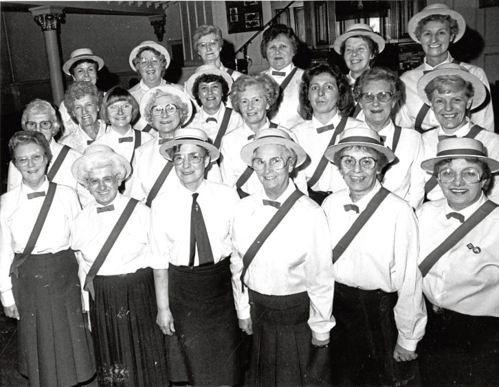 1988: Former members of the 19th Aberdeen Girls' Brigade at a reunion in Denburn Church hall to celebrate the group's 70th anniversary