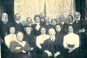 Sunday best was order of the day in this historic picture of Woodside's congregation