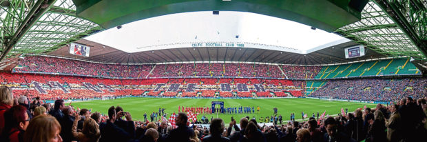 Celtic Park on cup final day 2014.
