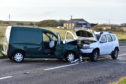 The vehicles involved in the crash