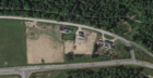 An aerial view of the planned site near Alford