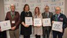 Ian Baxter, Cllr Sarah Duncan, CHSS Chief Executive Jane-Claire Judson, Jim Simpson, Robert Paton