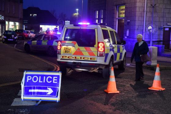 Police Scotland at the scene on Burn Lane in Inverurie.