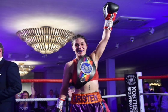 Kristen Fraser with the Commonwealth title