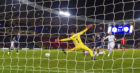 Scotland's James Forrest slides the ball home to make it 3-1 against Israel in the Nations League.