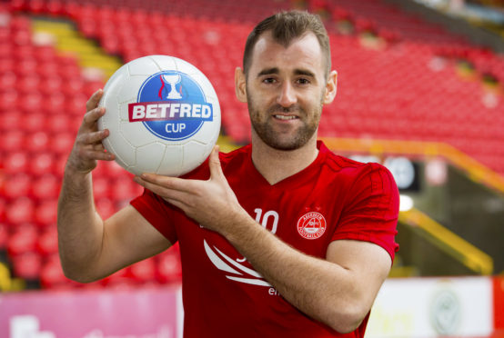 Aberdeen winger Niall McGinn looks ahead to the Betfred Cup final against Celtic.