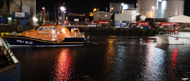 Peterhead RNLI launched their lifeboat The Misses Robertson of Kintail yesterday