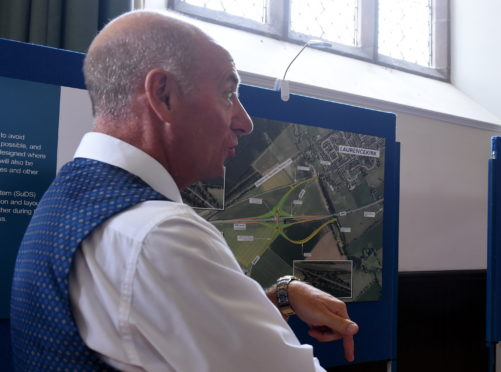 A public display highlighting the proposal for the £24 million flyover