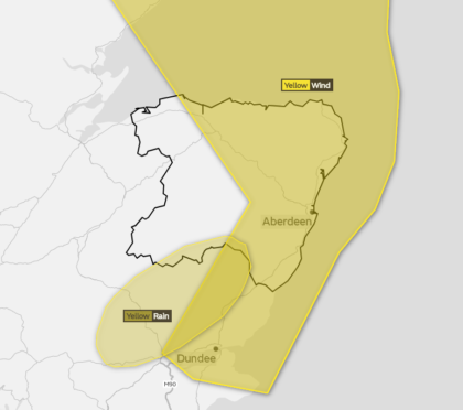 A weather warning has been issued