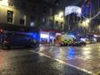 Emergency services pictured at the scene