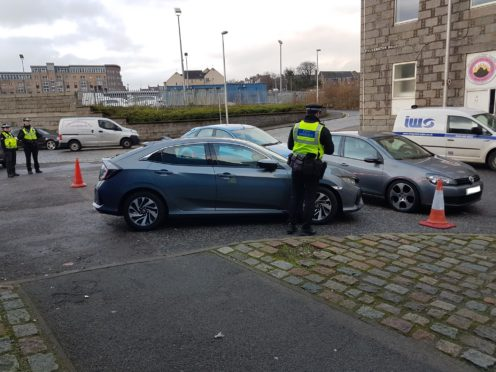 Police Scotland and community wardens carried out patrols in Aberdeen