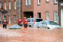 Devastating flooding struck Stonehaven in December 2012.