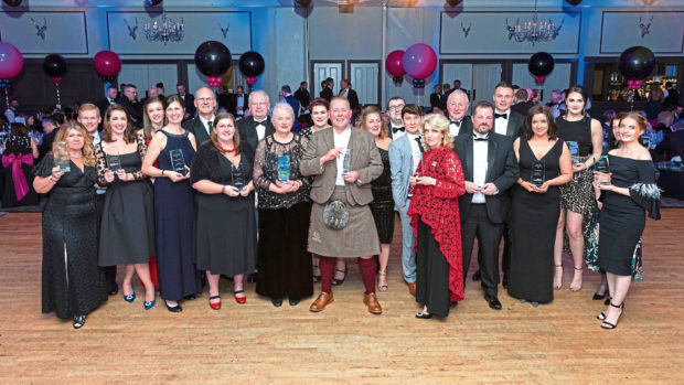 Winners of the 2018 Aberdeen City and Shire Tourism Awards at Ardoe House.