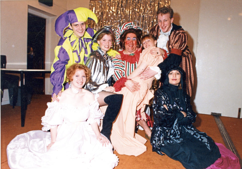1991: Cast members from  an Attic Theatre production pose for the camera