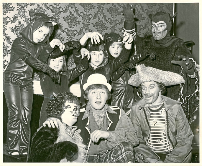 1978: The cast of Dick Whittington were aiming to be pictch purr-fect for their show at His Majesty's Theatre