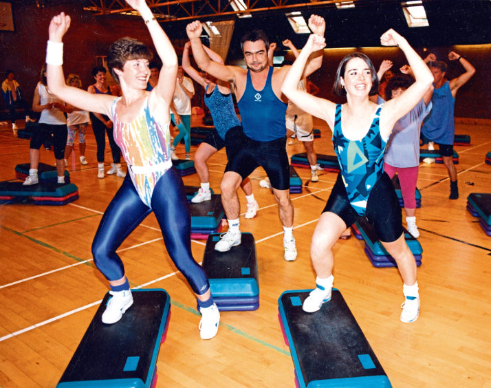 1992: Instructors Jocelyn Fleming, left, and Diane MacKinnon lead a step dancing course at the sports centre and recreation club, Culter Mills, Culter