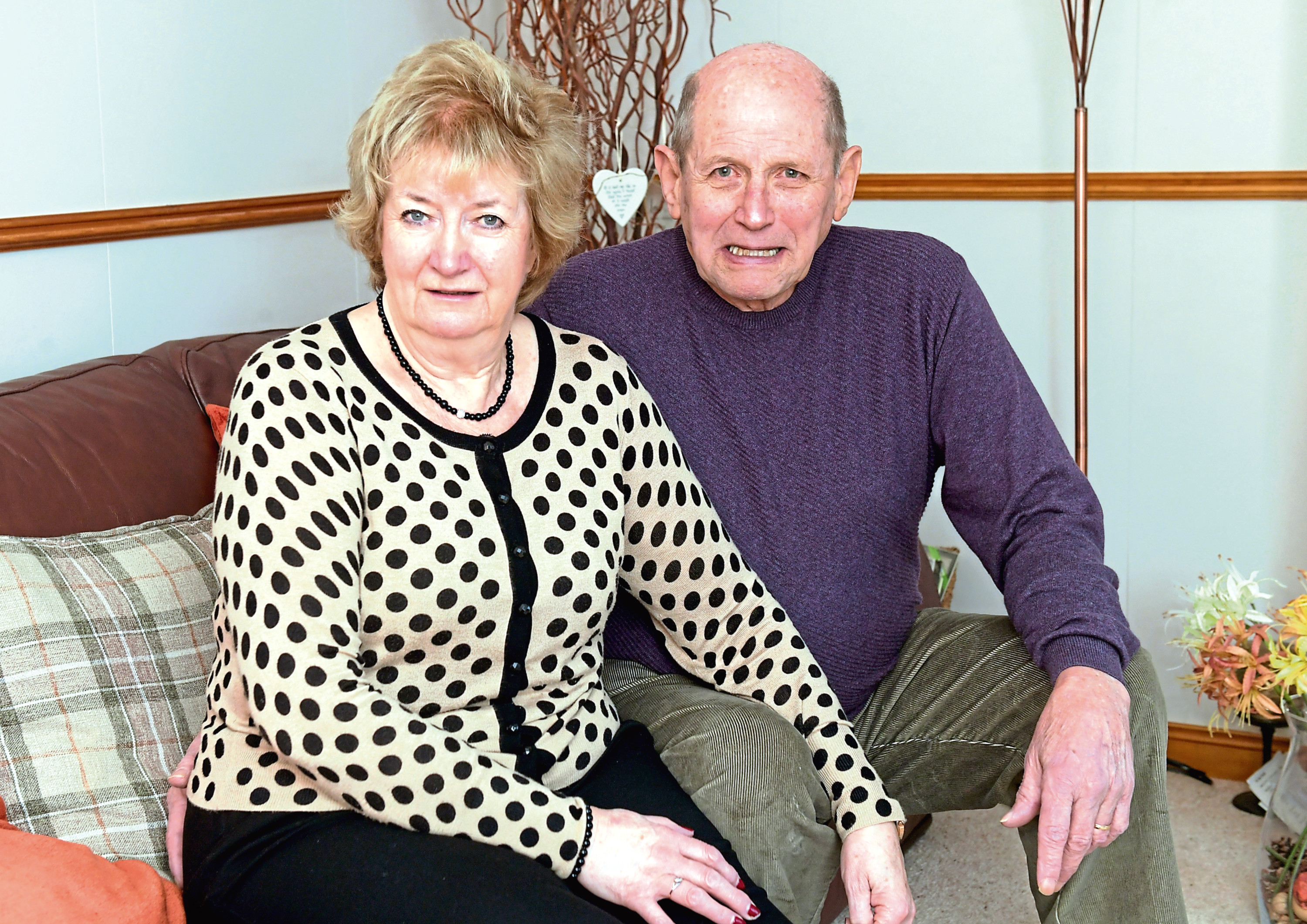 Ann and James Auld from Kemnay, who reunited and fell in love after 61 years apart