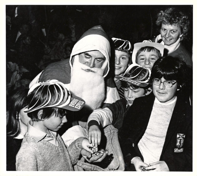 Santa himself makes an appearance in 1983