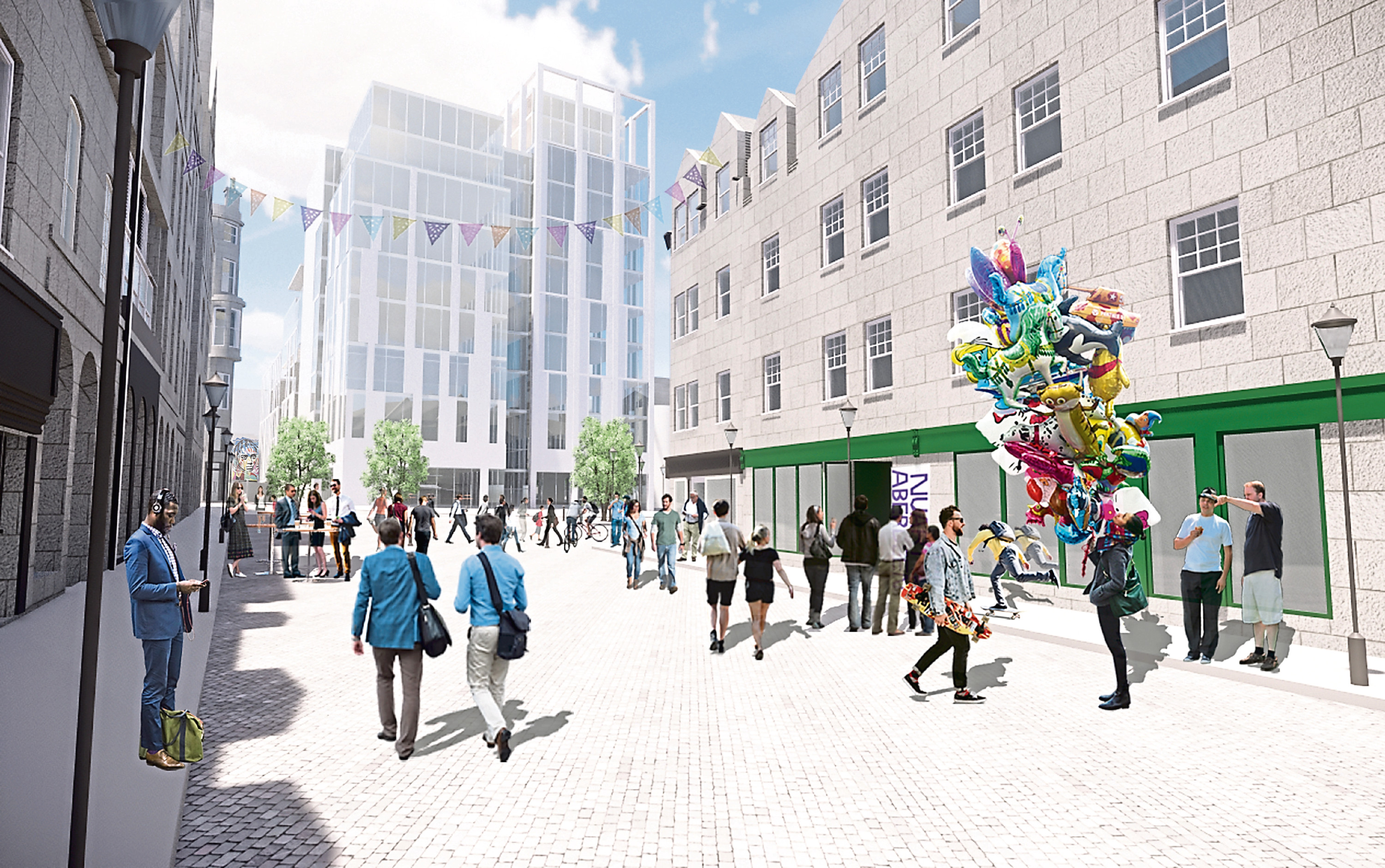 An artist's impression of the planned tower which would replace Aberdeen Indoor Market