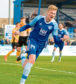 Russell McLean celebrating scoring for Peterhead