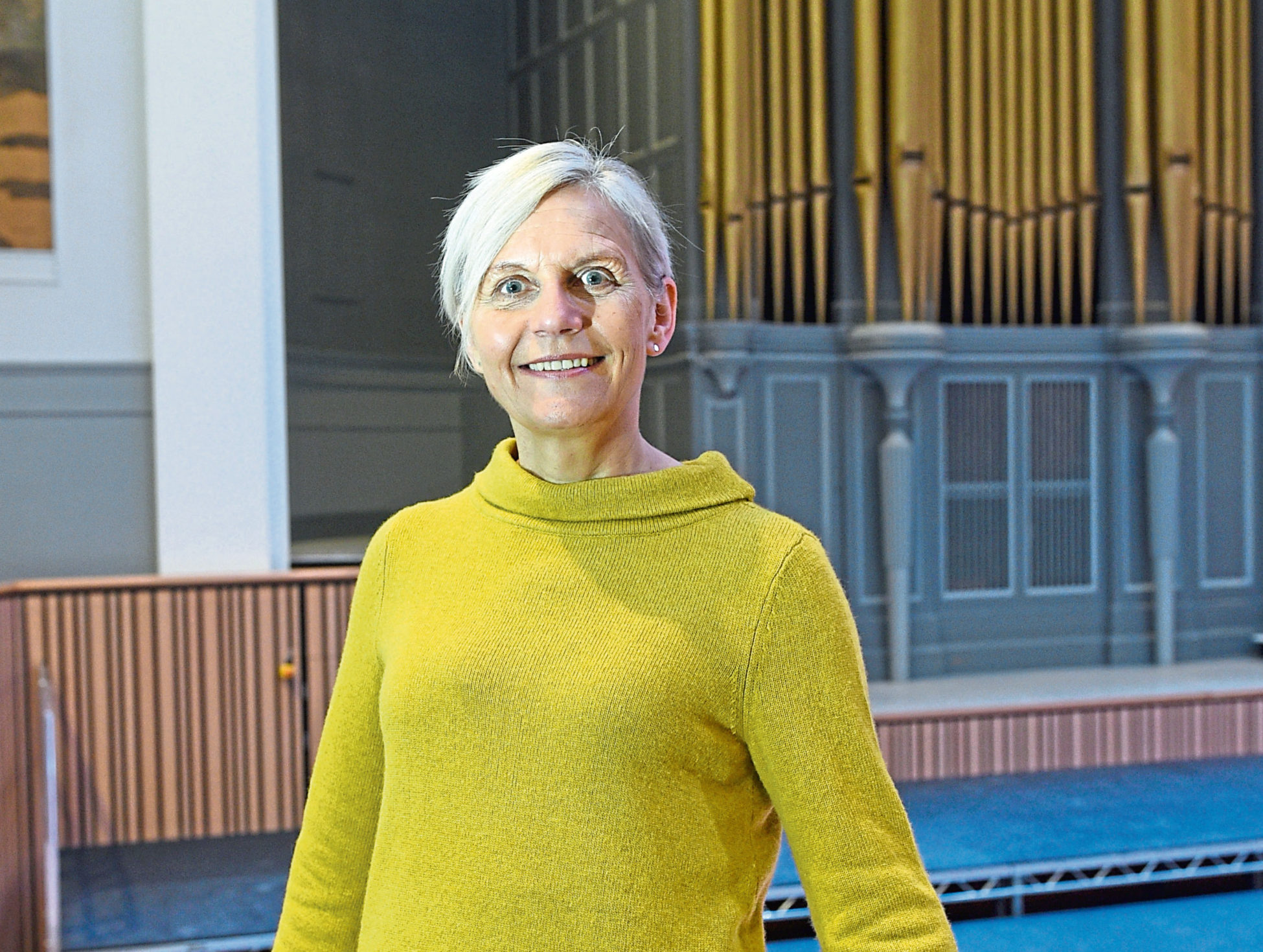 Jane Spiers at the new refurbished Aberdeen Music Hall