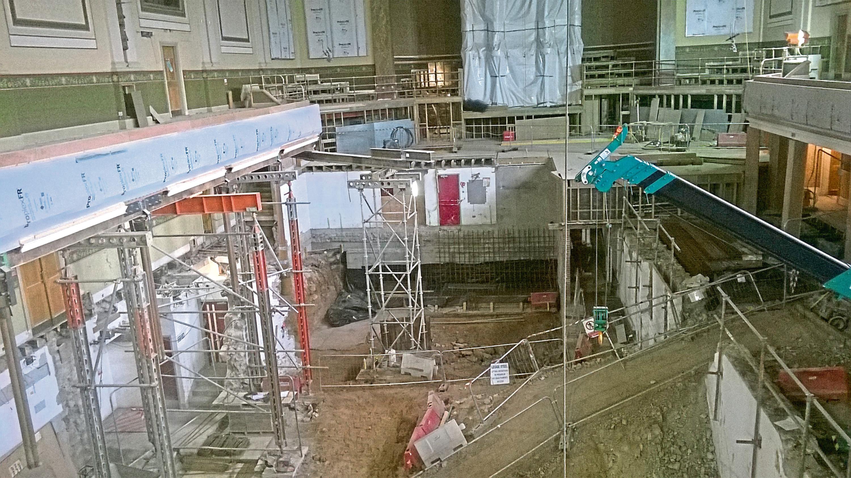 Work in progress at Aberdeen's Music Hall