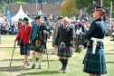 Clan Chief, Captain Alwyne Farquharson at the Ballater Highland Games two years ago