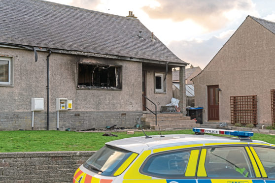 A 76-year-old man has died after a house fire in Macduff