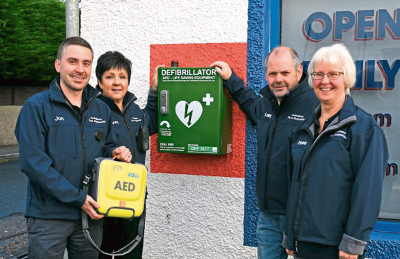 The Newmachar First Responders are raising awareness of defibrillators in the village