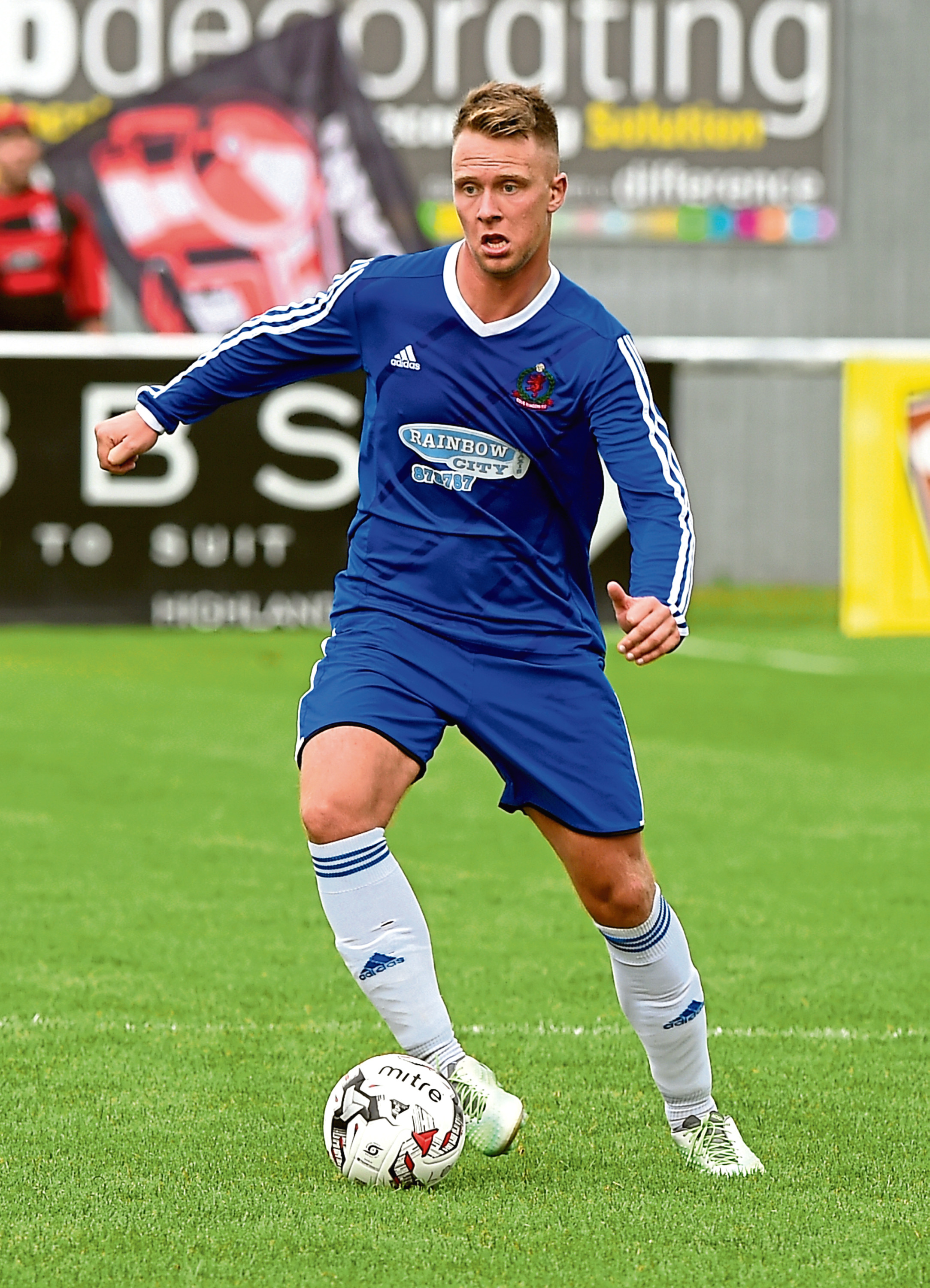 Cove's Ryan Strachan. Picture by KENNY ELRICK