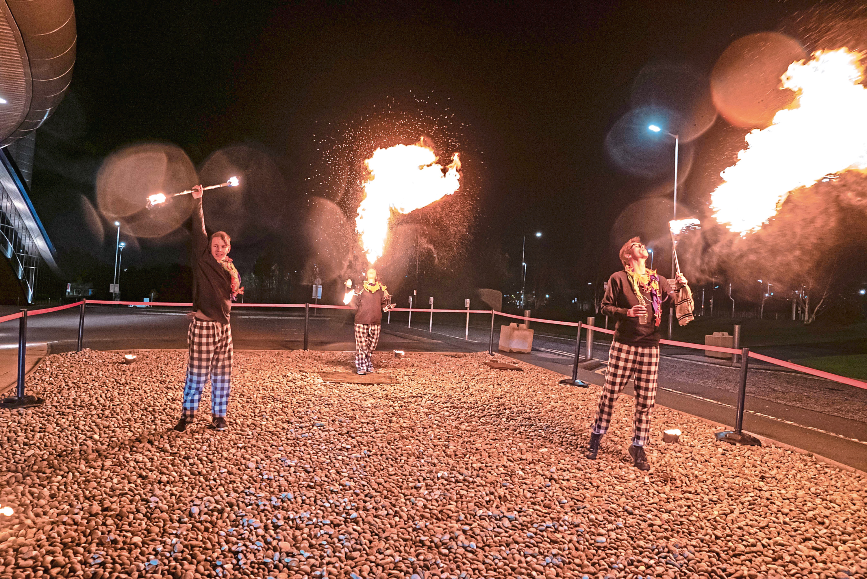 Guests attending last year's ball were entertained by dancers and these fire breathers