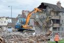Demolition of Aberdeen flats on Logie Avenue to make way for Haudagain improvements