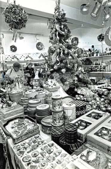 1989: The Nova gift centre Christmas display, with lots of tempting gift ideas for shoppers