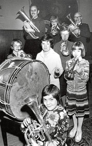 1978: This Salvation Army band features Dick Underwood, Brenda Price, David Murray, David Murray Jnr, Marlene Ingram, Yvonne Cook, Susan Underwood and Susan Ingram